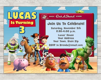 Toy Story Birthday Invitation, Toy Story Invitation - Digital File (Printing Services Available)