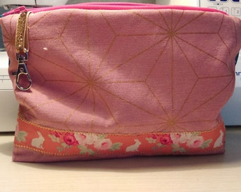 Clutch purse pink and blue