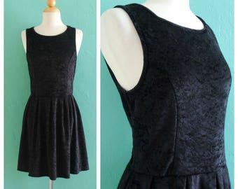 vintage 90's velvet mini dress