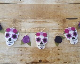 Dia De Los Muertos Garland, Dia De Los Muertos Banner, Sugar Skull Banner,Sugar Skull Garland,Day of the Dead Banner,Day of the Dead Garland