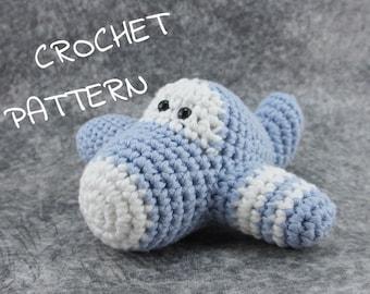 Amigurumi Plane stuffed toy crochet pattern pdf tutorial English, Dutch, Danish