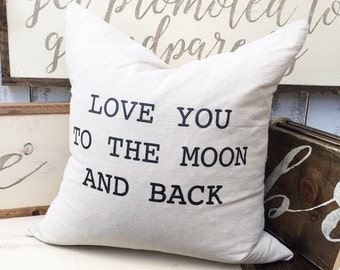 To The Moon And Back Pillow Cover