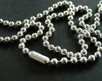 Sterling Silber 3mm Kugelkette, Unisex: necklace.925 Kette Kugelkette, Männer, Frauen