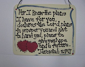 Crafts Wooden Scripture Sign 4015 - Jeremiah 29:11