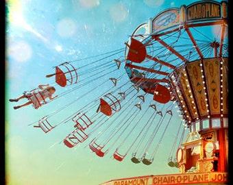 Photography, Swing Ride, Nursery, Fairground, Carnival, Ttv, Vintage, Retro