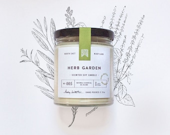 No 005 - HERB GARDEN - Natural Scented Soy Candle
