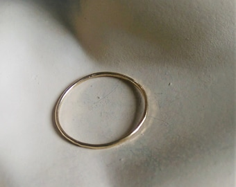 """9 ct gold """"skinny"""" ring lightly textured to catch the light  2 available.......sizes 9 1/4....S 1/4 and 5 1/4.....K"""
