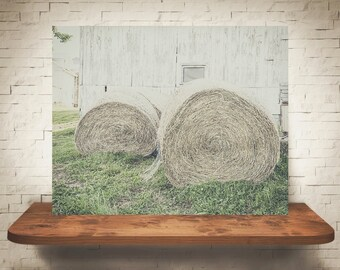 Hay Bales Photograph - Fine Art Print - Color Photography - Wall Art - Wall Decor -  Farm Pictures - Farmhouse Decor - Country Decor