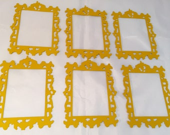 Tim Holtz Die Cuts * Ornate Frame * Six Frames * Gold Cardstock * Sizzix 661195 *