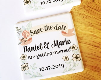 Save The Date - Floral save the date - Save The Date Magnet -  Save The Dates - Wedding Announcement - 14STD