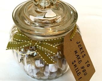 Jokes in a Jar! Fun Gift, Joke Gift, Gift for Her, Gift for Him, Birthday Gift, Funny Gift