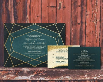 Modern Wedding Digital Invitation Suite