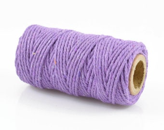 PURPLE BAKERS TWINE - Purple Twisted Cotton String / Bakers Twine (20 meter spool)