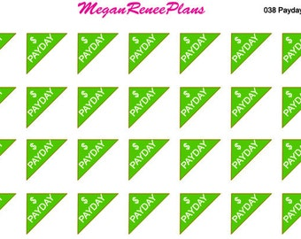 Payday corner matte planner stickers for the Erin Condren Life Planner 28 per sheet