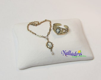 Miniature Cameo necklace and bracelet