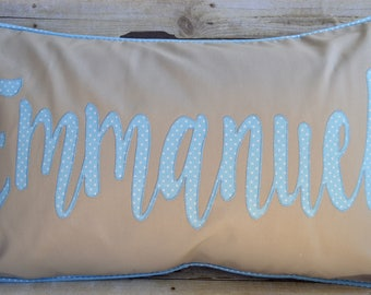 Personalized Name Pillow, Baby Name Pillow,Boy's Room Pillow, Baby Gift, Baby Shower Gift, Boy Name Pillow, Boy's Room Decor, New Baby Gift