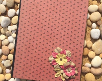 Vintage Yellow and Pink Floral Altered Composition Notebook
