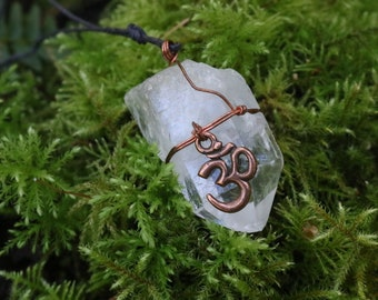 copper ohm quartz necklaces