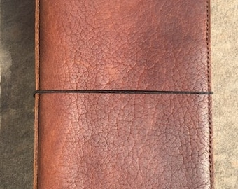 READY TO SHIP Bison Travelers Notebook, Soft High Quality Leather with Pockets