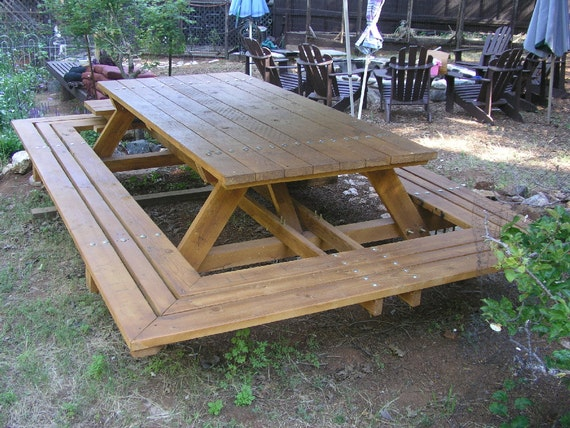 Custom Made Picnic Tables Large Thru Bolt Picnic Tables