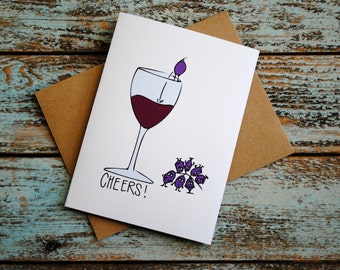 Time for Wine blank friendship Cheers greeting card