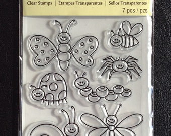 Clear Stamps, 7 Pieces Total, Animal Theme, Scrapbooking, Card Making, Recollections