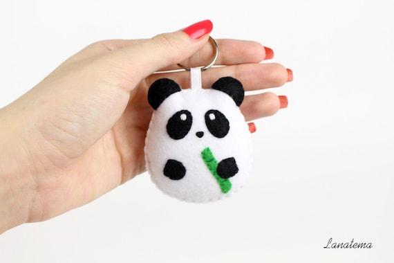 Panda portachiavi panda regalo regalo per lei portachiavi for Portachiavi pannolenci