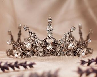Renaissance Bridal Tiara, Medieval Wedding, Bridal Headpiece, Custom Tiara, Tudor Costume, Ren Faire Wedding, Handfasting, Avalon Tiara