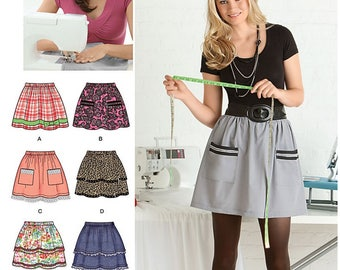Simplicity 2286 Sewing Pattern Misses Pull-on Skirt with Trim Variations sz 6 thru 18 Uncut
