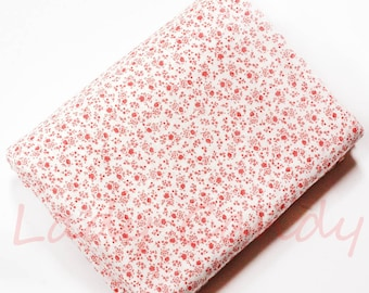 45x50cm red dot fabric / Cotton / sewing Patchwork making garment #7338