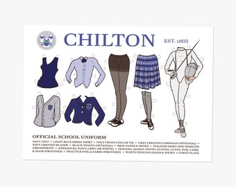Chilton School Uniform - 5x7 Postcard