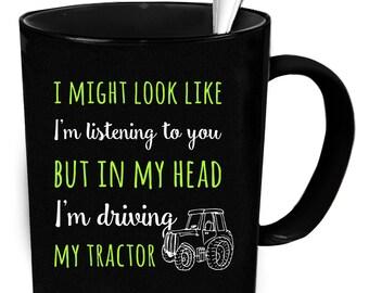 Tractor coffee mug 11 oz. Farmer gifts. Tractor gift.
