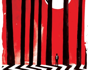 Twin Peaks Lithograph Poster Print by Adam Fisher