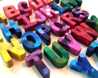 Letters of the Alphabet Shaped Crayons, ABC, 123, Letter Crayons, Number Crayons, ABC Crayon, Alphabet Favor, Chicka Chicka Boom Boom,