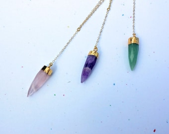 Amethyst Spike Necklace