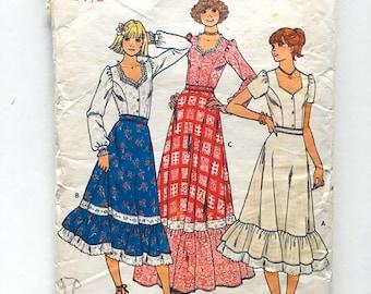 Vintage Sewing Pattern, Teen's/Women's 70's Partially Uncut, Butterick 6086, Blouse (XXS)