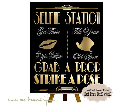 This is a picture of Clever Selfie Station Sign Free Printable