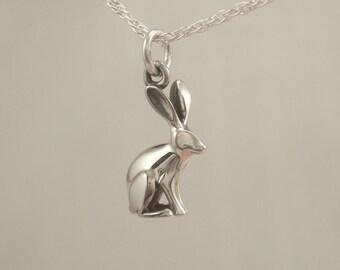 jackrabbit  silver pendant /charm