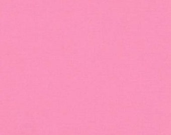 Kona Cotton Solid Fabric - Carnation - Sold by the 1/2 Yard