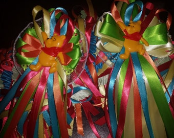 2 Custom baby shower / birthday  corsages and 25  capias/ pin ons winnie the pooh  theme