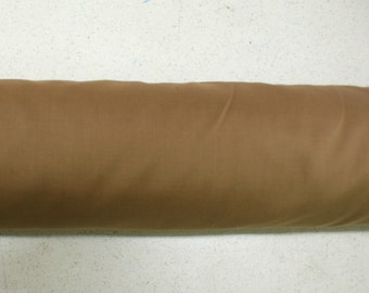 Camel Plain Poly Cotton Fabric Table Covers Crafts Runner Dress Lining Sewing Dress Fabric - Sold By The Metre