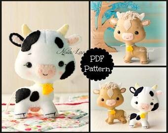 The cow and the ox (PDF Pattern)