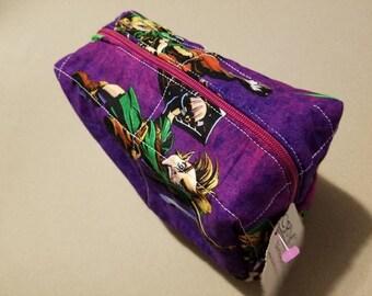 Legend of Zelda/ Link/ Nintendo/ Purple toss makeup/ toiletry bag