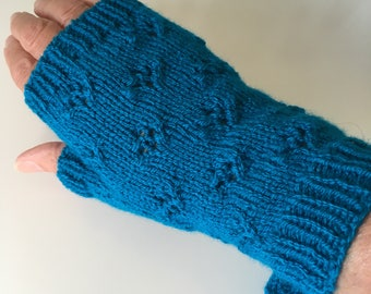 Fingerless Mittens, Knitted Fingerless Mittens, Fingerless Gloves, Knitted Gloves