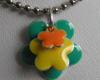 Citrus Flower Power - Pendant and Necklace