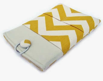 Macbook Air Case, Macbook Air Cover, Macbook 12 inch Case, 11 Inch Macbook Air Case, Laptop Sleeve, Yellow Chevron