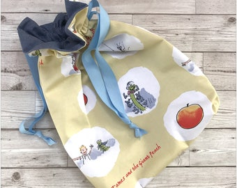 James & The Giant Peach Childrens Drawstring Kit Shoe Bag