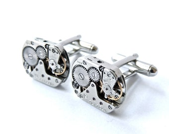 Steampunk Cufflinks // Groomsmen cuff links