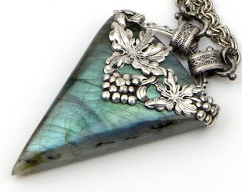 Blue Labradorite Pendant, Labradorite Necklace, Unique Necklace For Wife, Blue Necklace For Women, Birthday Gift For Girlfriend Wife Mom