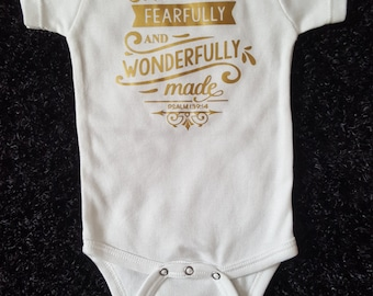Christian baby gift, baby bodysuit with scripture, baby tshirt with bible verse, new baby, trendy baby clothes, unisex baby clothes